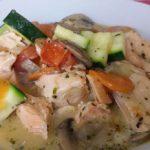 Lachs-auf-Zucchini