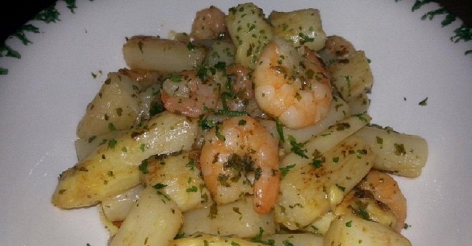 Spargel-Shrimps-Pfanne